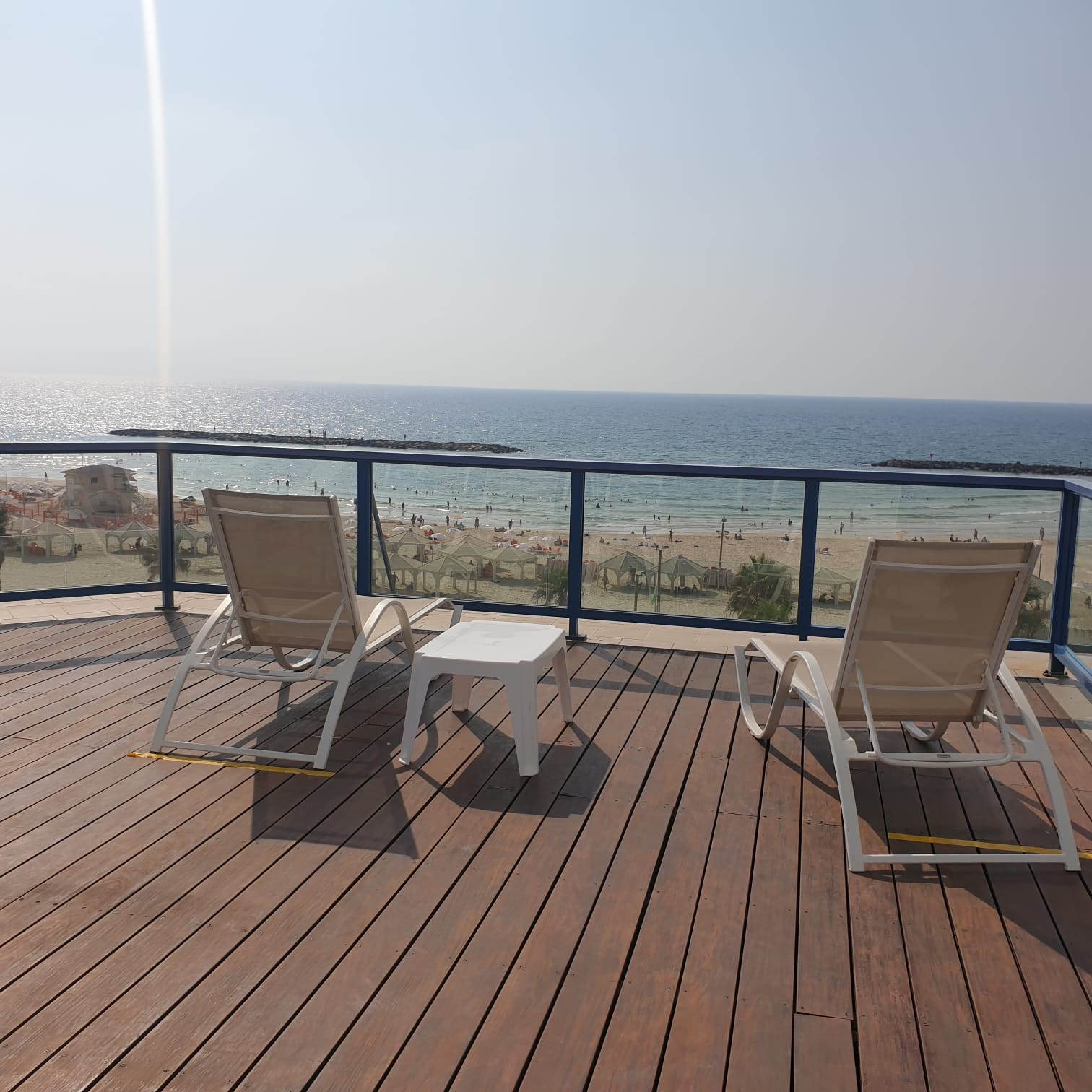 For rent, Tel Aviv sea view, large 3 rooms apartment with terrace, Opera Tower